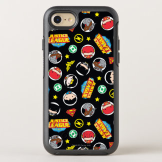 Chibi Justice League Heroes and Logos Pattern OtterBox Symmetry iPhone 7 Case