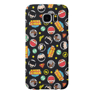 Chibi Justice League Heroes and Logos Pattern Samsung Galaxy S6 Cases