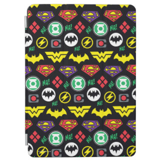 Chibi Justice League Logo Pattern iPad Air Cover