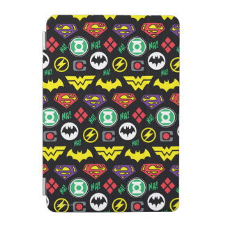Chibi Justice League Logo Pattern iPad Mini Cover
