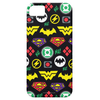 Chibi Justice League Logo Pattern iPhone 5 Covers