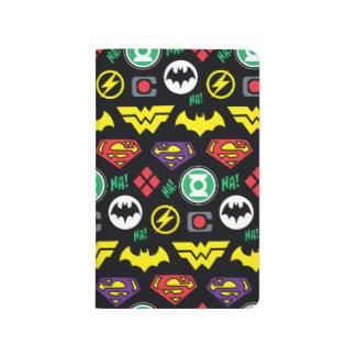 Chibi Justice League Logo Pattern Journal