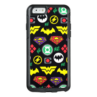 Chibi Justice League Logo Pattern OtterBox iPhone 6/6s Case