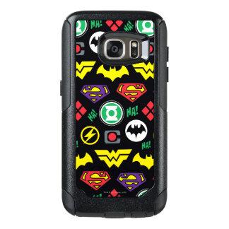 Chibi Justice League Logo Pattern OtterBox Samsung Galaxy S7 Case