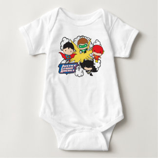 Chibi Justice League of America Explosion Baby Bodysuit