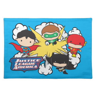 Chibi Justice League of America Explosion Placemat