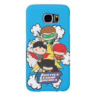 Chibi Justice League of America Explosion Samsung Galaxy S6 Cases