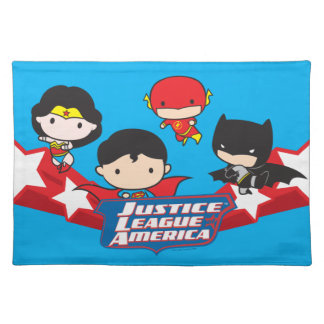 Chibi Justice League of America Stars Placemats