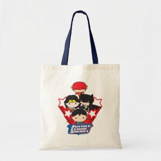 Chibi Justice League of America Stars Tote Bag
