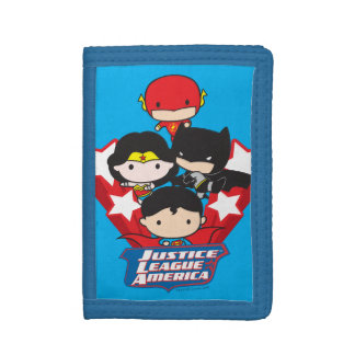 Chibi Justice League of America Stars Trifold Wallets