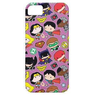Chibi Justice League Pattern on Purple iPhone 5 Covers