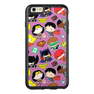 Chibi Justice League Pattern on Purple OtterBox iPhone 6/6s Plus Case