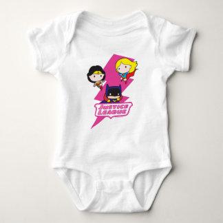 Chibi Justice League Pink Lightning Baby Bodysuit