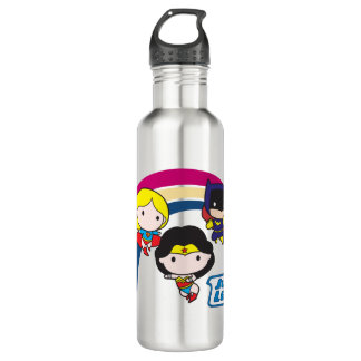 Chibi Justice League Rainbow 710 Ml Water Bottle