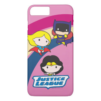 Chibi Justice League Rainbow iPhone 8 Plus/7 Plus Case