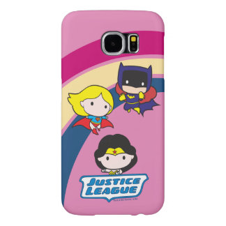 Chibi Justice League Rainbow Samsung Galaxy S6 Cases