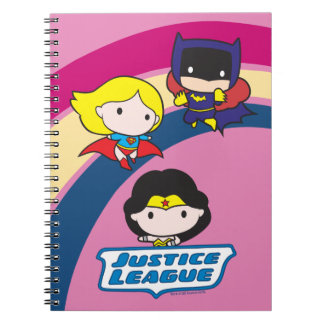 Chibi Justice League Rainbow Spiral Notebook