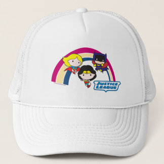 Chibi Justice League Rainbow Trucker Hat