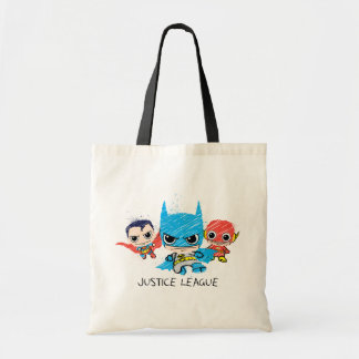 Chibi Justice League Sketch Budget Tote Bag