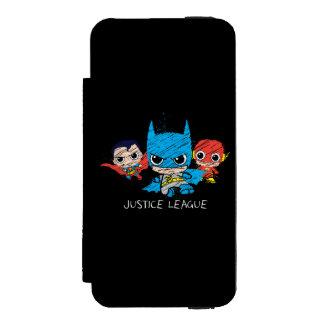 Chibi Justice League Sketch Incipio Watson™ iPhone 5 Wallet Case