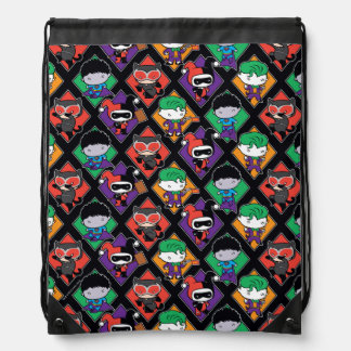 Chibi Justice League Villain Pattern Drawstring Bag