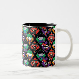Chibi Justice League Villain Pattern Two-Tone Coffee Mug