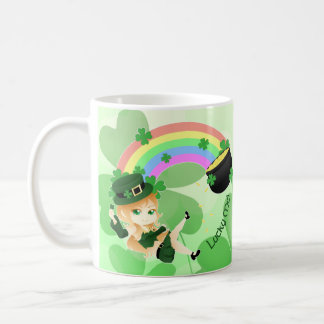 Chibi leprechaun girl coffee mug