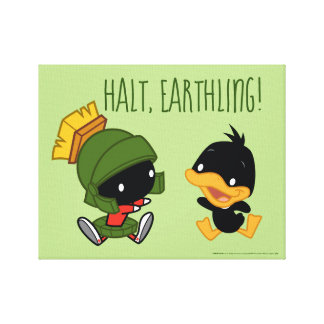 Chibi MARVIN THE MARTIAN™ & DAFFY DUCK™ Canvas Print