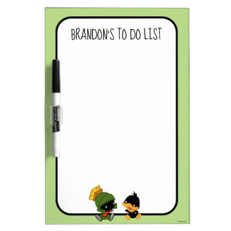 Chibi MARVIN THE MARTIAN™ & DAFFY DUCK™ Dry Erase Board