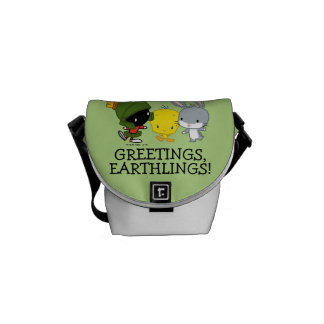 Chibi MARVIN THE MARTIAN™, TWEETY™, & BUGS BUNNY™ Messenger Bags