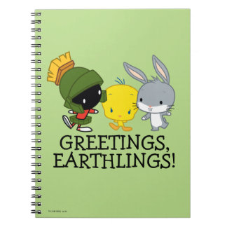 Chibi MARVIN THE MARTIAN™, TWEETY™, & BUGS BUNNY™ Notebook
