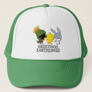 Chibi MARVIN THE MARTIAN™, TWEETY™, & BUGS BUNNY™ Trucker Hat