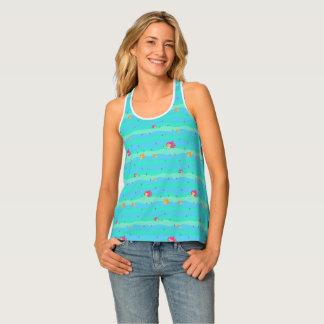 Chibi Mermaids & Seahorses all-over-print-tank-top Singlet
