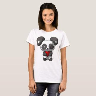 Chibi Panda with Heart T-Shirt