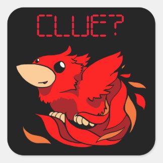 Chibi Phoenix Square Sticker