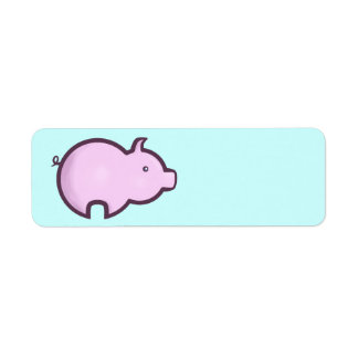 Chibi Pig Return Address Label
