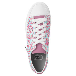 Chibi pink Axolotl pattern Chido Printed Shoes