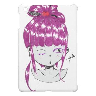 chibi pink hair teen girl cover for the iPad mini