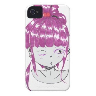 chibi pink hair teen girl iPhone 4 cover