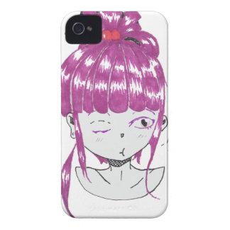 chibi pink hair teen girl iPhone 4 cover