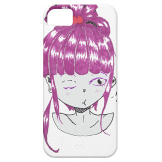 chibi pink hair teen girl iPhone 5 cover