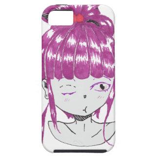 chibi pink hair teen girl tough iPhone 5 case