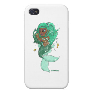 Chibi Pisces distressed Case For iPhone 4