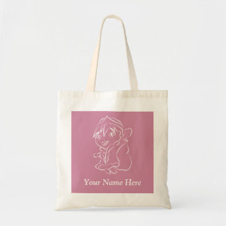Chibi Princess Line Art Tote Bag