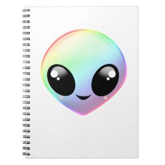 Chibi Rainbow Alien Notebook