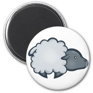 Chibi Sheep 6 Cm Round Magnet