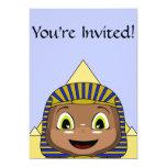 Chibi Sphinx With Pyramids Personalized Invitations