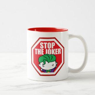 "Chibi ""Stop The Joker"" Sign Two-Tone Coffee Mug"