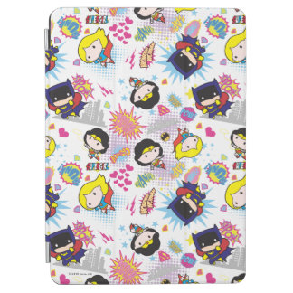 Chibi Super Heroine Pattern iPad Air Cover