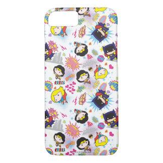 Chibi Super Heroine Pattern iPhone 8/7 Case